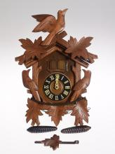 Vintage German Clock SCARCE CUCKOO CLOCK W/ BATTERY POWERED SINGING CANARY c1972 Excellent Condition Original Decorative Collectible Clock
