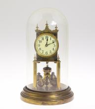 Gustav Becker Clock ANTIQUE 400-DAY/TORSION CLOCK W/ SCARCE 4-BALL PENDULUM 1906 Decorative Collectible Horology Time Inventor Of 400-Day Clocks