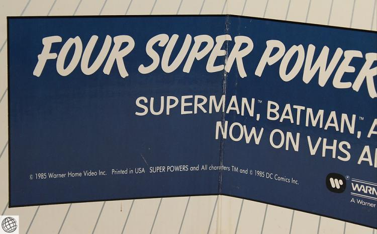 Batman Superman VINTAGE DC SUPER POWERS SERIES CARDBOARD
