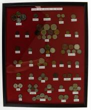 2Pcs Collectible Antique & Vintage Currency FRAMED INTERNATIONAL COINS & PAPER CURRENCY Dating Back to 1900 Malaysia Vietnam Bermuda Hungary Other Countries Money Notes