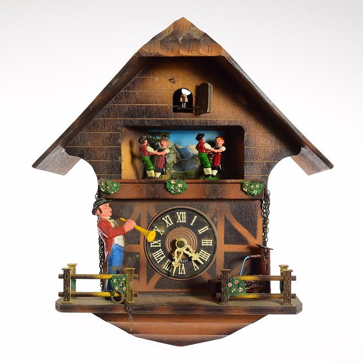 2pcs Vintage Cuckoo Clocks Emil Schmeckenbecher Restoration