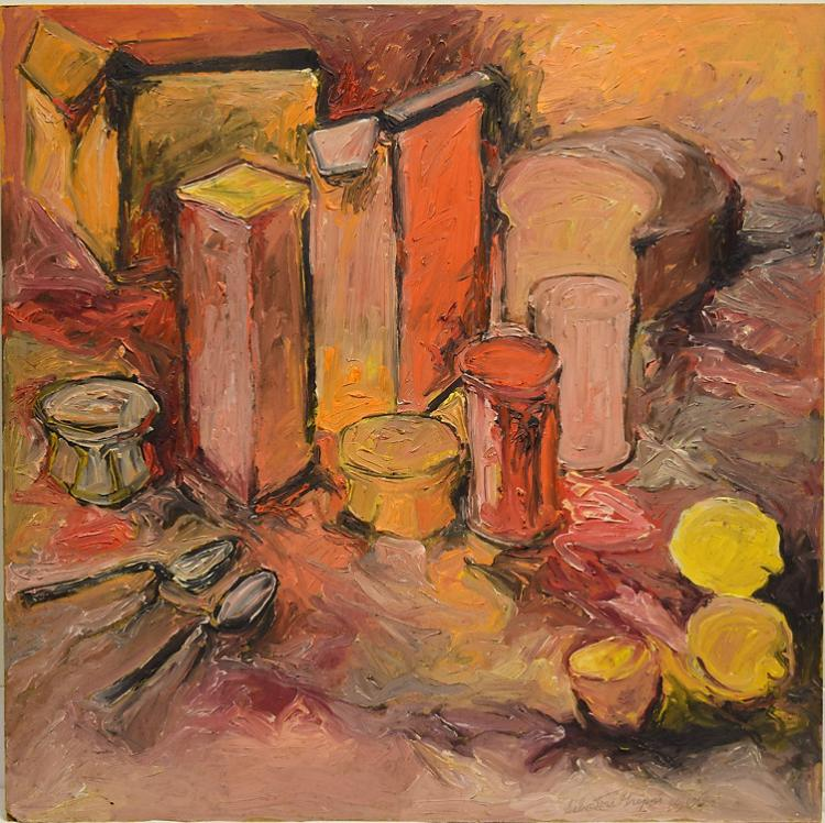 Original oil board painting salvatore grippi untitled 1965 v Paintings that are worth a lot of money