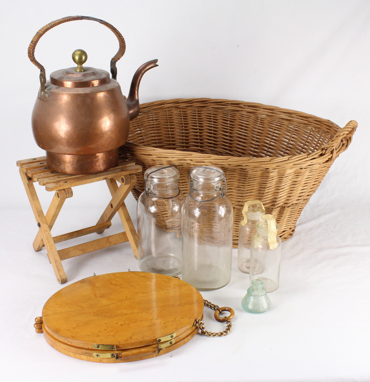 9pcs vintage antique home goods and decor copper tea kettle for Home goods decorative accessories