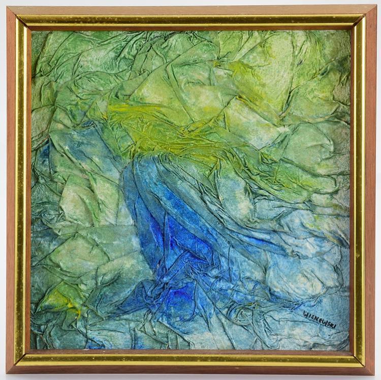 Textured Watercolor Painting ORIGINAL ARTIST SIGNED IRENE WISNEWSKI ARTWORK  Modern Art Fine Art Abstract Decorative Unique