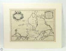 Jaillot PARTIE DE LA NOUVELLE FRANCE 1695 Important French Mapping Canada Engraved Antique Canadian Cartography French American