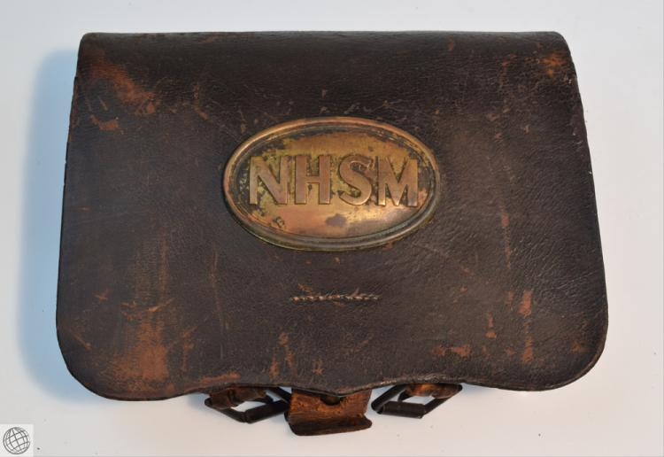 Lot 5015: Civil War Period EMBOSSED LEATHER CARTRIDGE BOX Union ...