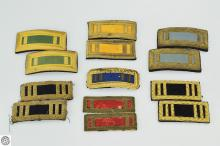 13Pcs US Army Officer SHOULDER STRAP BOARDS LIEUTENANT AND CAPTAIN RANK c 19th to 20th Century Civil War Estate Antique Militaria Rank Insignia Bars Infantry Cavalry Regiment Brigade Union Veteran Soldier United States Military Uniform Shoulder Mark Rank Slide Epaulet Epaulettes Coat Dress Historical Costume Collectible