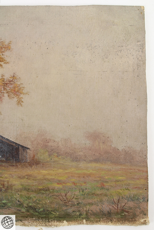 2pcs unstretched canvas original antique american pastoral o Paintings that are worth a lot of money