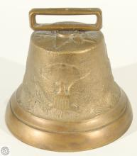RARE US Army Cavalry CAMEL CORP BELL Brass Horse Eagle Insignia Starburst Antique 19th Century Historical Soldier Confederate Union