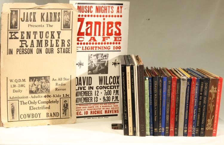 25Pcs Vinyl Decorative Cases RECORDS & CONCERT POSTERS David Wilcox Richie Havens Hatch Show Print Kentucky Ramblers WQDM Radio