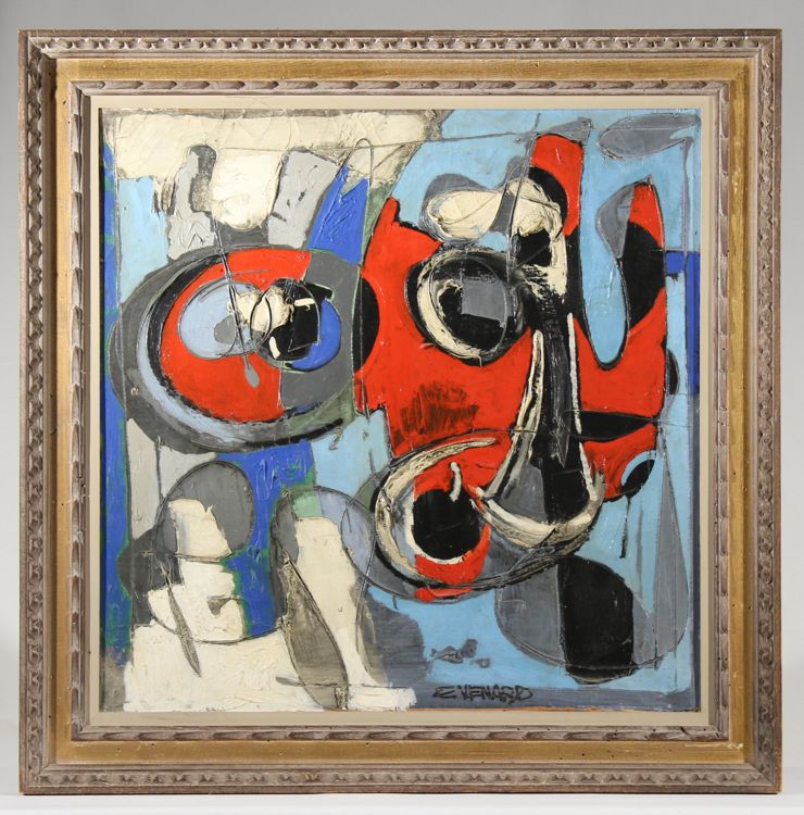 Signed claude venard original oil on canvas cubist still lif Paintings that are worth a lot of money