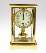 Antique Anniversary Clock BOWLER & BURDICK 400-DAY TORSION CLOCK EXCELLENT CONDITION c1903 Crystal Torsion Clock Unique Pendulum
