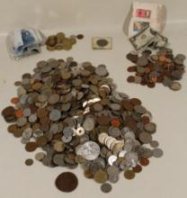 250Pcs Kenya Hungary VINTAGE & ANTIQUE COIN COLLECTION Hong Kong Lebanon Austria American Currency European Pennies Susan B Anthony Shillings Canada Switzerland Confoederatio Helvetica