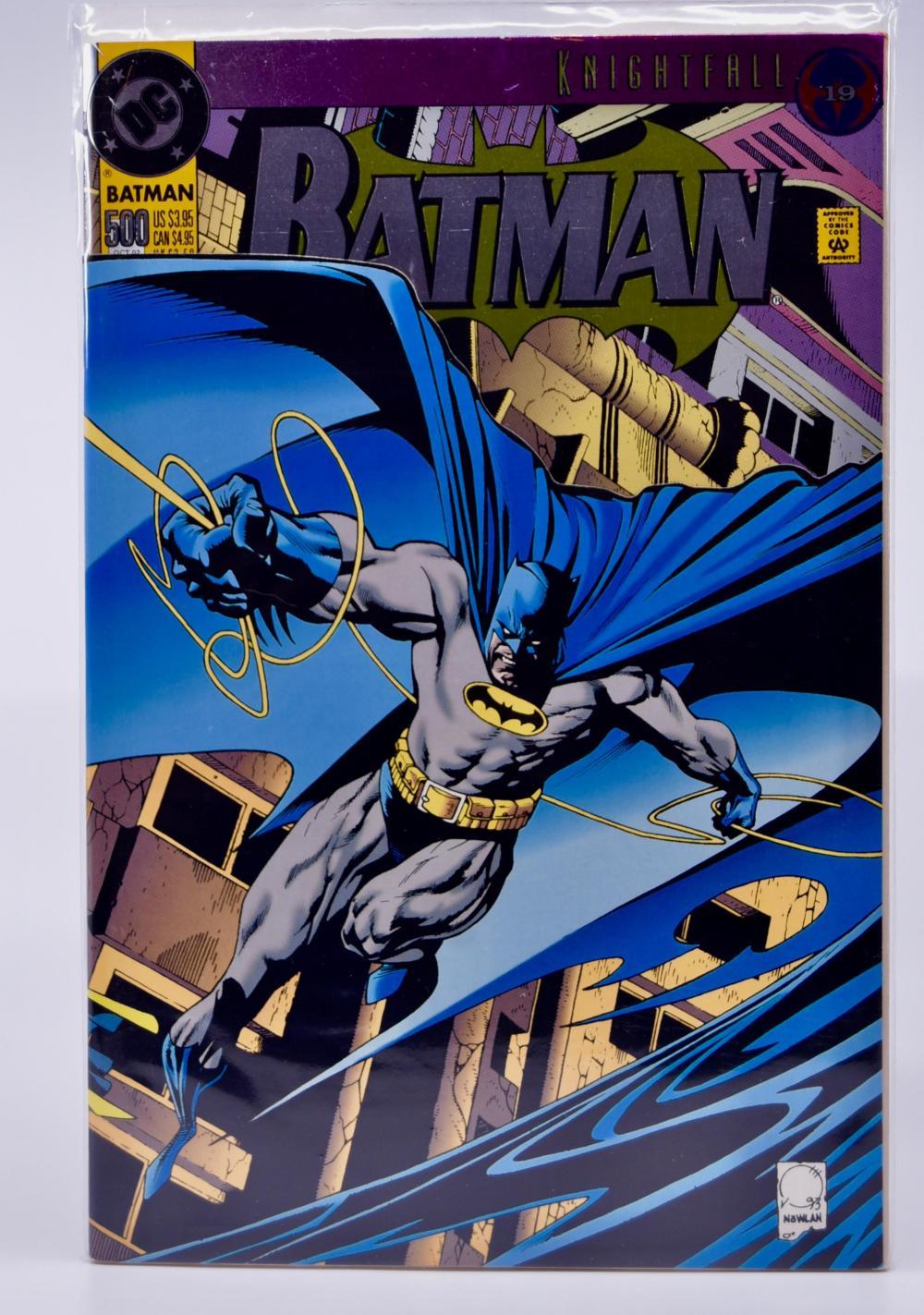 9   DC Comics   Batman  Knightfall   Issue 9   Foil Cover   Dark  Angel The Fall   Collectible