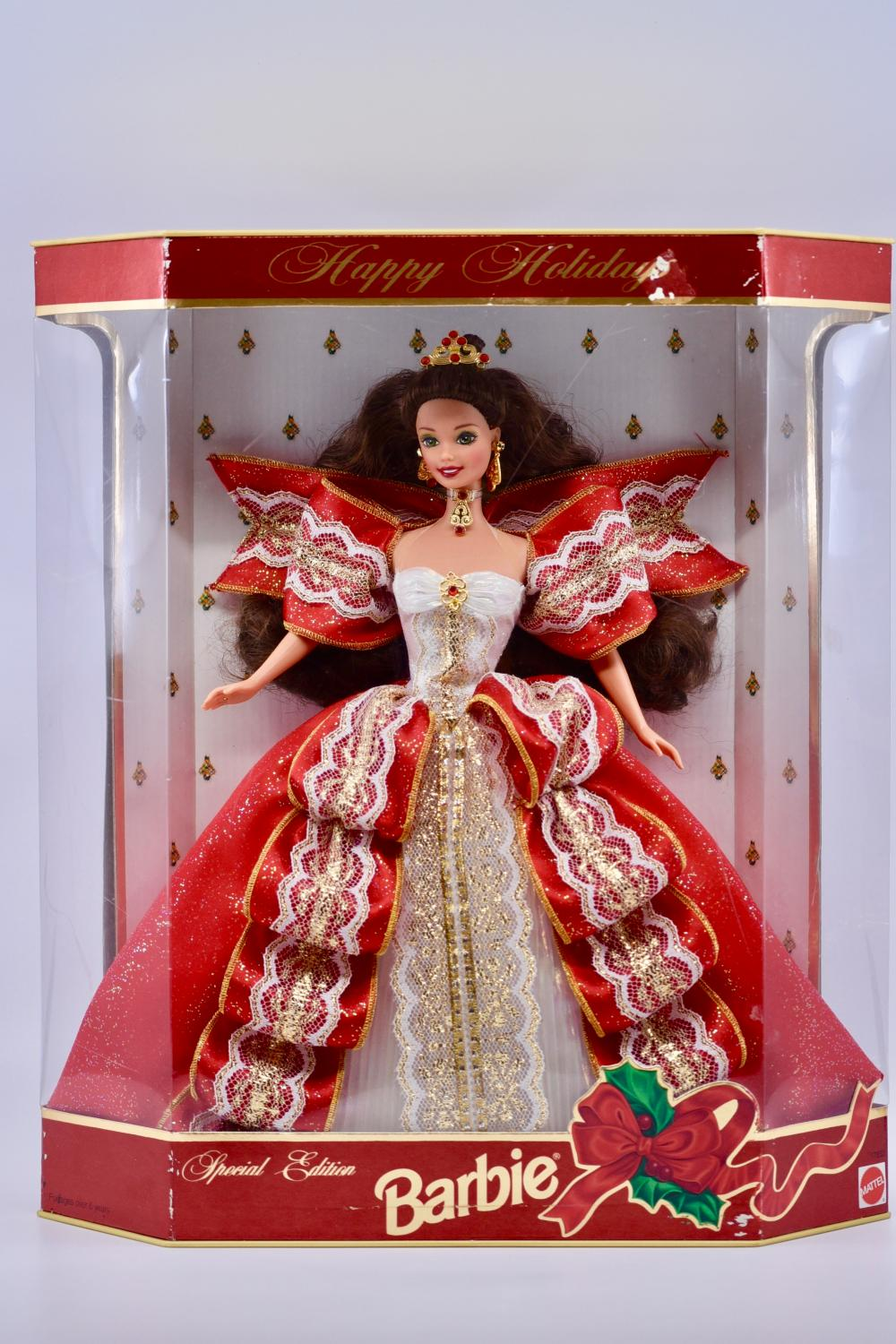 1997 10th Anniversary red and white Barbie .