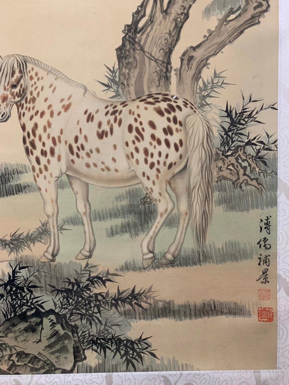 Sold Price A Chinese Horse Painting Puru Mark July 3 0120 8 00 Pm Edt