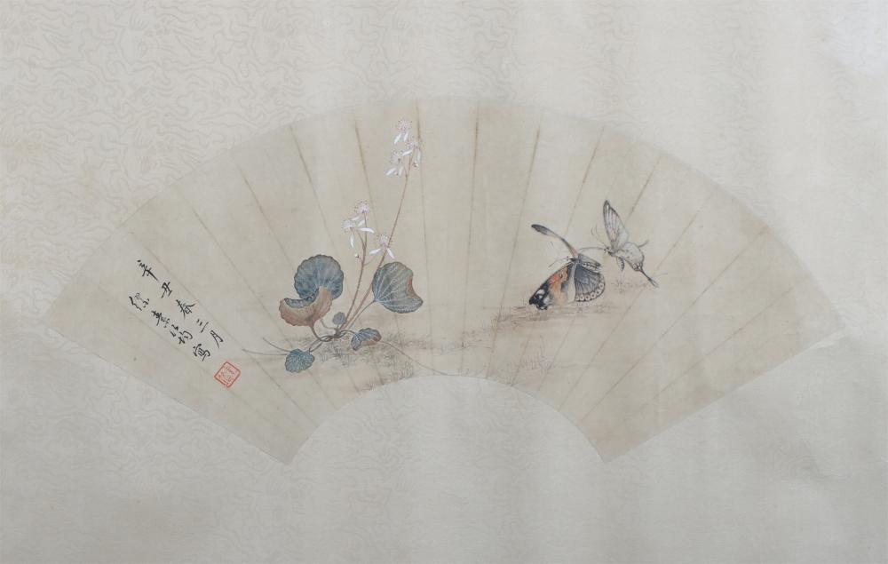 Fan Painting: Butterflies by Liao Jiahui