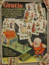 rare 1930's Snow White Walt Disney soap ad poster + 12 cut-out cards
