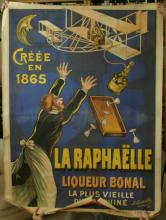 huge rare 1908 early aviation poster chromolithograph Orville Wright