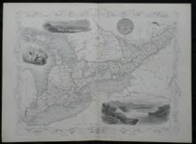 1851 Rapkin/Tallis illustrated map of West Canada