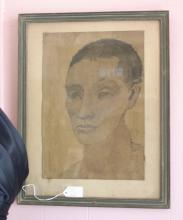 framed Mid Century print portrait