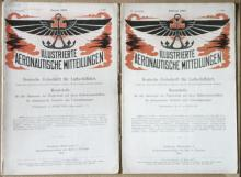 antique illustrated German aviation periodicals