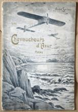 rare antique aviation themed poem in French