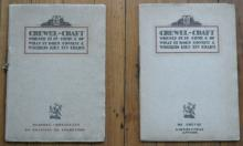 pair of antique crewel craft booklets
