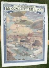antique French 1909 magazine Figaro Illustre