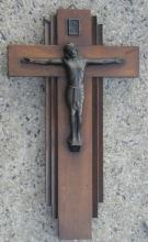 antique European made Art Deco period Jesus Christ on the cross