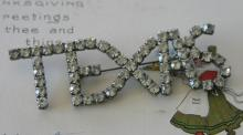 vintage estate jewelry: large pin brooch