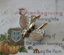 vintage estate jewelry: designer pin