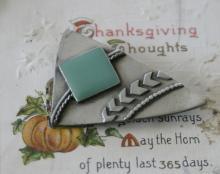 vintage estate jewelry: Southwestern pin