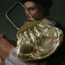 vintage Whiting and Davis sequin purse