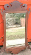 antique small size Chippendale wall mirror
