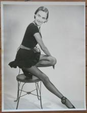 vintage large size original portrait photograph of a dancer