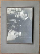 antique large size original black and white portrait photograph