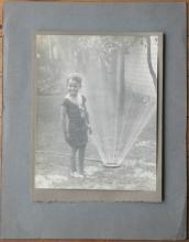 vintage or antique black and white original large portrait photograph