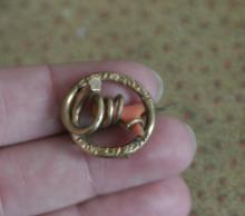 estate jewelry: pin brooch with coral