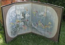 vintage Asian (Japanese or Chinese?) table screen