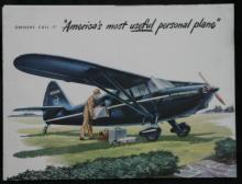 1947 full color Stinson Flying Station Wagon sales catalog