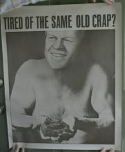 very large funny caricature poster of President Gerald Ford