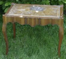 vintage Hollywood Regency scalloped carved table
