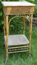 antique Bamboo or Manou Victorian Era tall table