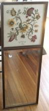 tall skinny vintage trumeau style mirror