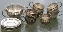 antique Rado Wien silver plated teaset