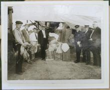 antique early 1900's photograph of airmail pilots letters carriers