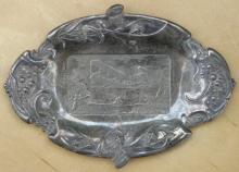 silverplated Wright Bros Aeroplane dish or ashtray