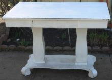 antique Empire period painted white desk