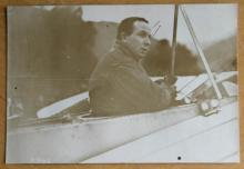 original ca. 1911 aviation airplane aviator photograph